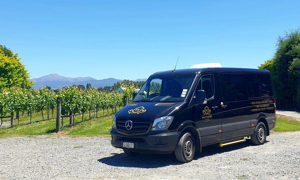 Minibus to Gourmet wine experience